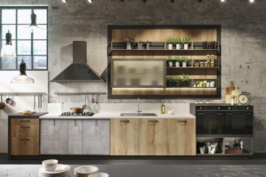 Moderna lesena kuhinja